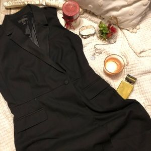 J.CREW 6 Black 100% Wool Sleeveless Lined Dress